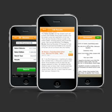 Freelance Web Design: Fastcase iPhone