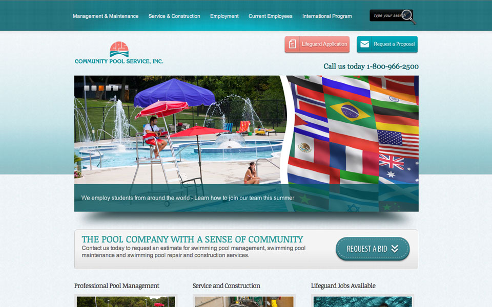 Community Pools Services Home Page