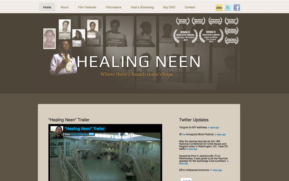 Healing Neen Home Page