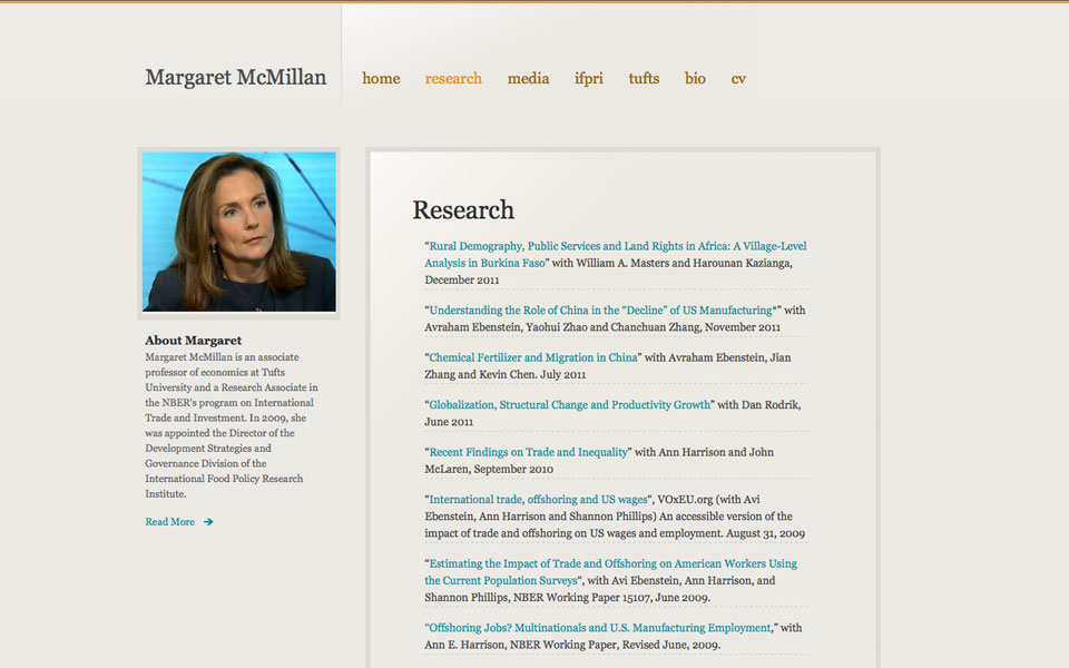Margarget McMillan Home Page